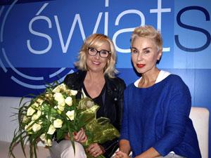 Agata Młynarska i dr Barbara Walkiewicz-Cyrańska Fot. SLDE