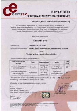 Zobacz - certyfikat produktu CRYSTALYS