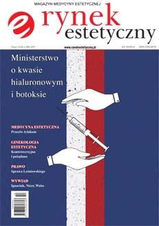 """Okładka magazynu """"Rynek estetyczny"""" numer 4/X-XII/2016"""