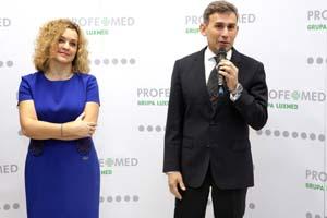 Prezes Grupy Lux Med Anna Rulkiewicz z Robertem Korzeniowskim, ktory odpowiada w Profemed za rozwój pionu Medycyna dla Sportu i Aktywnych Fot. Lux Med
