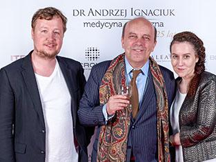 Redakcja Rynku estetycznego na inauguracji gabinetu dr Ignaciuka Fot. Olgierd Chodyniecki